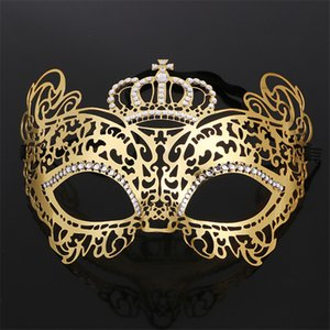 Fashion Crown Tiaras Hairbands Girls Masquerade Metal Phoenix Mask Half Face Sexy Party Festival Prom Wedding Head Jewelry