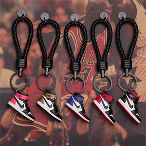 Wholesale Keychain AJ Key Ring Accessories Charms Sneaker Shoes D Mobile Phone Strap Lanyard Basketball Shoes Model Popular Gift epacket