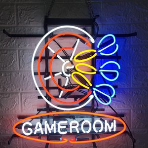 Manufacturer Real glass Acryline Baseboard Cafe Neon Sign Game Room Darts Neon Signs 16*16 Inch
