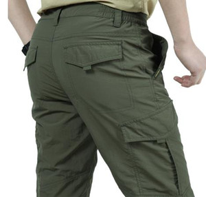 ladung militärische hose für männer großhandel-Mens Breathable Cargohose beiläufige leichte wasserdichte Quick Dry Tactical Pants Herren Army Military Art Hose