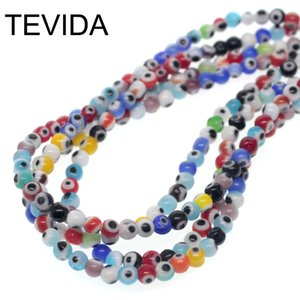Wholesale pendant Tevida mm Fashion Turkey Blue Evil Eye Spacer Round Glass Beads DIY for Jewelry Making