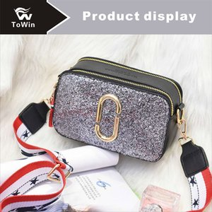 Famous Sequins Shoulder Bags Women Luxury Boston Bag Brand PU Leather Crossbody Bag Handbags Designer Purse Two-tone Female Flap Bags Tote on Sale