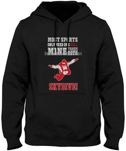 Wholesale 3d Men Cotton TopsSkydive Needs Both Funny Gift For Any Skydiver Adul Hoodies Sweatshirts