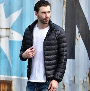 2019 Autumn Winter Lightweight Thin 90% White Down Jacket Men Casual Ultralight Male Feather Jackets Coat Ultra Light on Sale