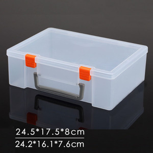 Cuboid PP Plastic Storage Box Clear Case Jewelry Tool Container Organizer Heightening Hand-held Thickening Basket