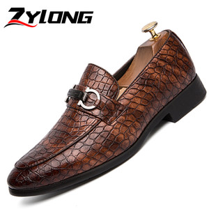 Wholesale Formal Shoes Men Italian Designer Snake Pattern Evening Wedding Oxford Shoes for Men Dress Pointed Leather Brown Red Black