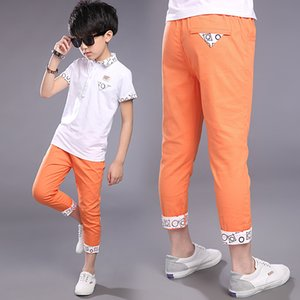 Summer Children's Clothes Boys Pants Formal Solid Thin Cotton Boys Pants For Boys Big Kids Slim Casual Pants Long Trousers on Sale