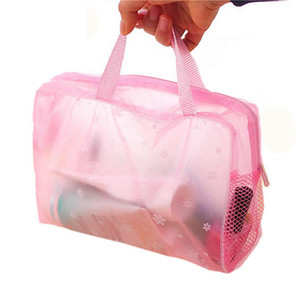 Wholesale Bathroom waterproof wash bag Sport Outdoor Packs Stuff Sacks Transparent Cosmeitc Make Up bags With Floral Stars For Outdoor Travel
