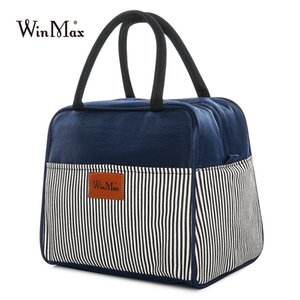 Winmax Brand Portable Lunch Box Women Men Thicken Thermal Insulated Tote Cooler Bag Containers Fresh Keep Storage Lunch Bag