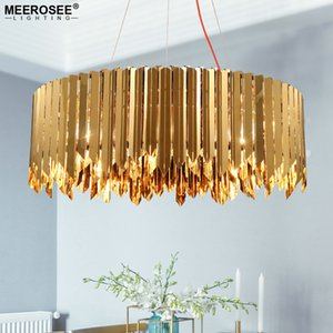 Wholesale europe pendant lamp for sale - Group buy New Arrival Modern Gold Round Pendant Lights North Europe Style Chrome Hanging Lamp for Dining room foyer Stainless Steel Chandelier Light