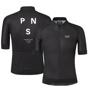 Wholesale Hot Pro Team PNS Summer Short Sleeve Cycling Jersey For Men Quick Dry Bicycle MTB Bike Tops Clothing Wear Silicone Non slip