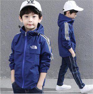 Wholesale New Pattern Spring Autumn Designer Brand M Popular Clothes Kids Hoodies Jacket Pure Cotton Outdoor Wind Proof Zipper Boys Coat