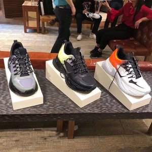 2019 autumn and winter leather fashion ladies' shoes Designer spliced sports shoes brand Leisure sports shoes for men and women Frenulu on Sale