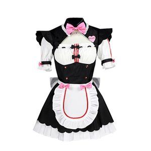 Wholesale Womens Neko Cat OVA Chocolat Vanilla Lolita Dress Cosplay Maid Dress