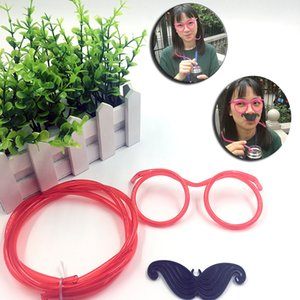 Wholesale Novelty Drink Straw Glasses Halloween Cosplay Props Kids Christmas Party Glasses Decoration Mask Children Festival Gift Halloween Supplies