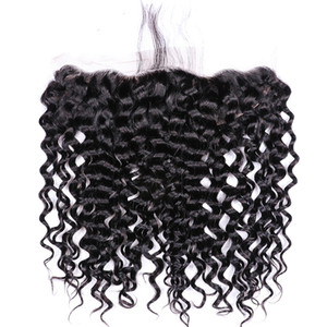 Wholesale My queen hair brazlian human hair Swiss hd lace closure frontal curly with baby hair looks very natrual