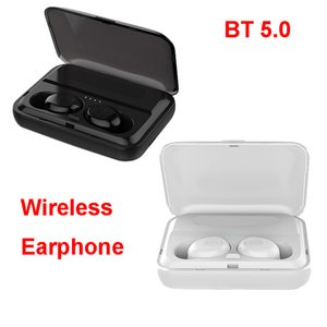 Wholesale TWS Wireless BT Earphone Bluetooth Earbuds Waterproof Support Mobile Charging F9 Black White for Iphone IOS Android OS i10 i11 i12
