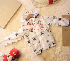 kids clothes girls boys horse printed sun protection clothing kid zipper hoodie jacket coat baby boy girls clothes children clothes AB-4 on Sale