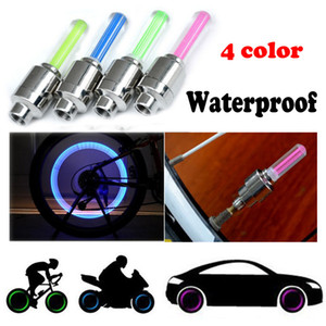 2PCS Bike Car Motorcycle Wheel Tyre Valve Cap Flash LED Light Lamp Safety Warn Waterproof Bike Accessories Lowest Price 0.749