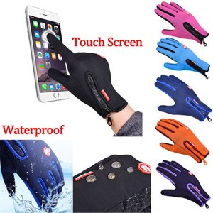 Wholesale Motorcycle Touch Screen Heated Leather Hand Gloves Winter Racing Windproof Waterproof Warm Unisex Man Women Anti slip Glove