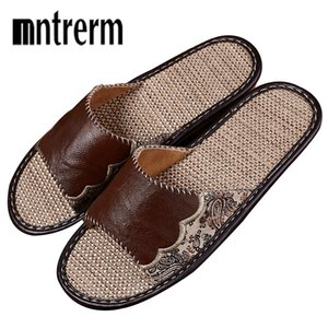Mntrerm Women Summer Leather Sandals Slipper Indoor Outdoor Flip-flops Beach Shoes New Fashion Female Love Casual Flower Slipper