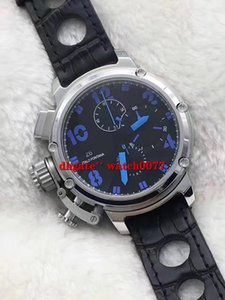 Wholesale timer pin for sale - Group buy New Quartz Chronograph U Timer Men s Black Dial Leather Watch