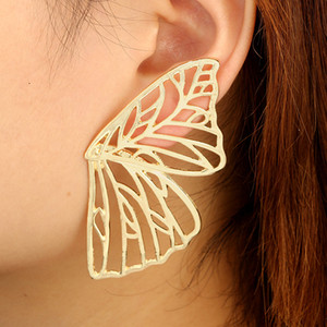 Trendy Hollow Butterfly Drop Dangle Earring for Women Metal Large Wing Pendant Earring Statement Jewelry Oorbellen free shipping DHL
