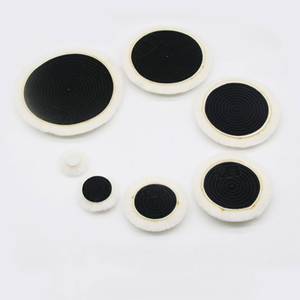 Auto Polishing Pad With Magic Sticker Lambs Woolen Car Detail Polisher Softer Imported Wool Plate Car Accessories