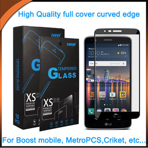 Wholesale 2 D full cover screen protector tempered glass with in1 package For Coolpad Legacy Foxxd Miro L590A LG Stylo5 Alcatel Moto E5 Play