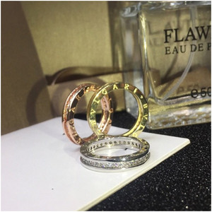 Designer Jewelry Women Gold Rings Hip Hop Iced Out Ring Micro Paved Diamond Engagement Wedding Finger Rings for Women Free Shipping
