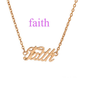 Wholesale word connectors resale online - Faith Word Letter Necklace Charm Connector Pendant Assorted For Jewelry