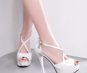Wholesale Sparkly silver peep toe pumps bridal wedding shoes white luxury designer shoes size to
