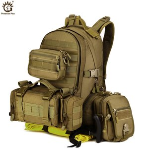 Wholesale 35L Waterproof Nylon Molle Army Backpack Tactical Men Sport Backpacks Outdoor Hiking Camping Cycling Travel Back Pack