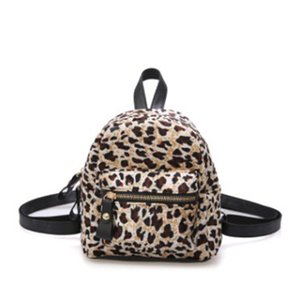 Wholesale Luxury Designer Backpack Autumn Winter Newest Type Super Hot Shoulder Bag Female Mini Many Sets Girls Hair Leopard Print Style