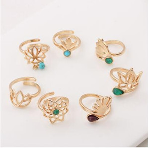 Wholesale 1pc Summer Bohemian Style Lotus Flower Adjustable Toe Ring Open Foot Finger Ring Beach Jewelry Accessories Charm Gift