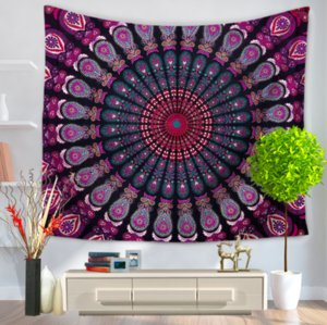 Wholesale Mandala Yoga Carpet Decorative Tapestries Bathroom Outdoor Tapestry Wall Hanging Sheet Picnic Cloth Home Decor Tablecloth Gift