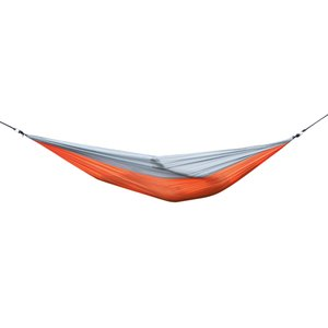 Wholesale AT6737 Nylon Parachute Fabric Double Hammock Orange Gray Color swing bed