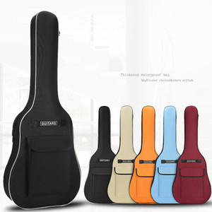 40 41 Inch Oxford Fabric Acoustic Guitar Gig Bag Soft Case Double Shoulder Straps Padded Guitar Waterproof Backpack 5mm Cotton