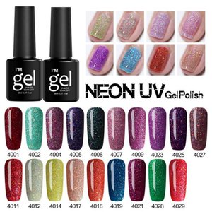 Wholesale nails resale online - Verntion ML Neon Glitter Color Gel Nail Polish UV LED Lamp Shining Hybrid Nail Lacquer Enamel Lucky Gel Paint Varnish Manicure