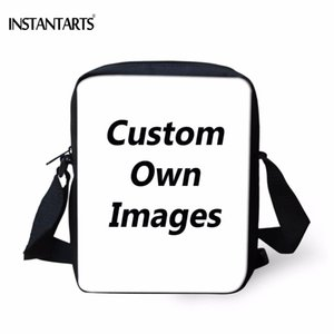 INSTANTARTS Casual Children School Bags Custom Your Own Logo Design Photo Printing Baby Boys Girls Mini Crossbody Bags Satchels