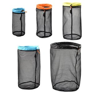 Wholesale Sleeping Bag Compression Bag Folding Nylon Mesh Storage On For Outdoor Camping Tent Travel Clothing Hammock Stuff Sack Pack