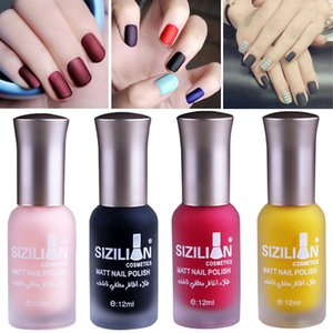 Wholesale Matte Nail Polish 12ml Fast Dry Long Lasting Nail Art Matte Wholesale Dropshipping 2019 New Vernis Ongle HOT Manicure