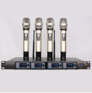 U-F4000 Professional UHF Wireless Microphone System Four Channel Cordless Receiver Vocal Handheld Mic Mike Microfone Sem Fio Microfono