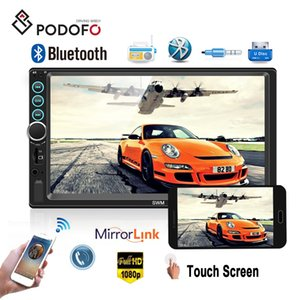Wholesale Podofo Din Car DVD Multimedia Player quot Bluetooth Touch Screen MP5 Player Car Radio Audio USB FM Auto Media Player Backup Camera