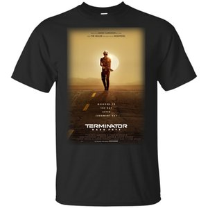 Wholesale Terminator Dark Fate Posters Official T Shirt Black For Men Women