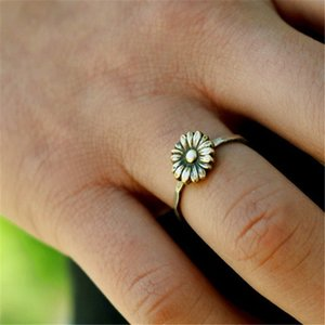 Wholesale jewelry sliver resale online - Sliver S925 Plant Ring for Women Silver Jewelry Dainty Cirle Gemstone Fine Jewelry for Females Fashion Ring Bizuteria