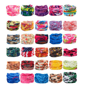 Unisex Outdoor Bicycle Half Face Masks Designer Cycling Bandanas Scarf Multi Patterns Headband Mutilfunction Headwear Head Scarves Mask M019
