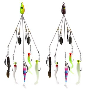 Wholesale Fishing Alabama Rig Lures cm g Group Attack Accessories Jig Head Hook Soft Bait Fish Pieces Set