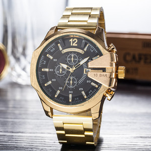 Wholesale Top Luxury Fashion Sports Men Watches Big Dial Display Top Brand Luxury watch Quartz Watch DZ Band Fashion Wristwatches