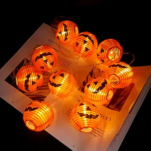 Wholesale Pumpkin 10 LED String Lights Halloween Decoration Lights 1.5m Rope Fairy Light Lamp Lantern Helloween Decoration Garden Christmas Decoration